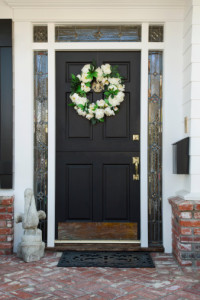 Glam the Front Door - 8 Budget Friendly Curb Appeal Ideas Done in a Day