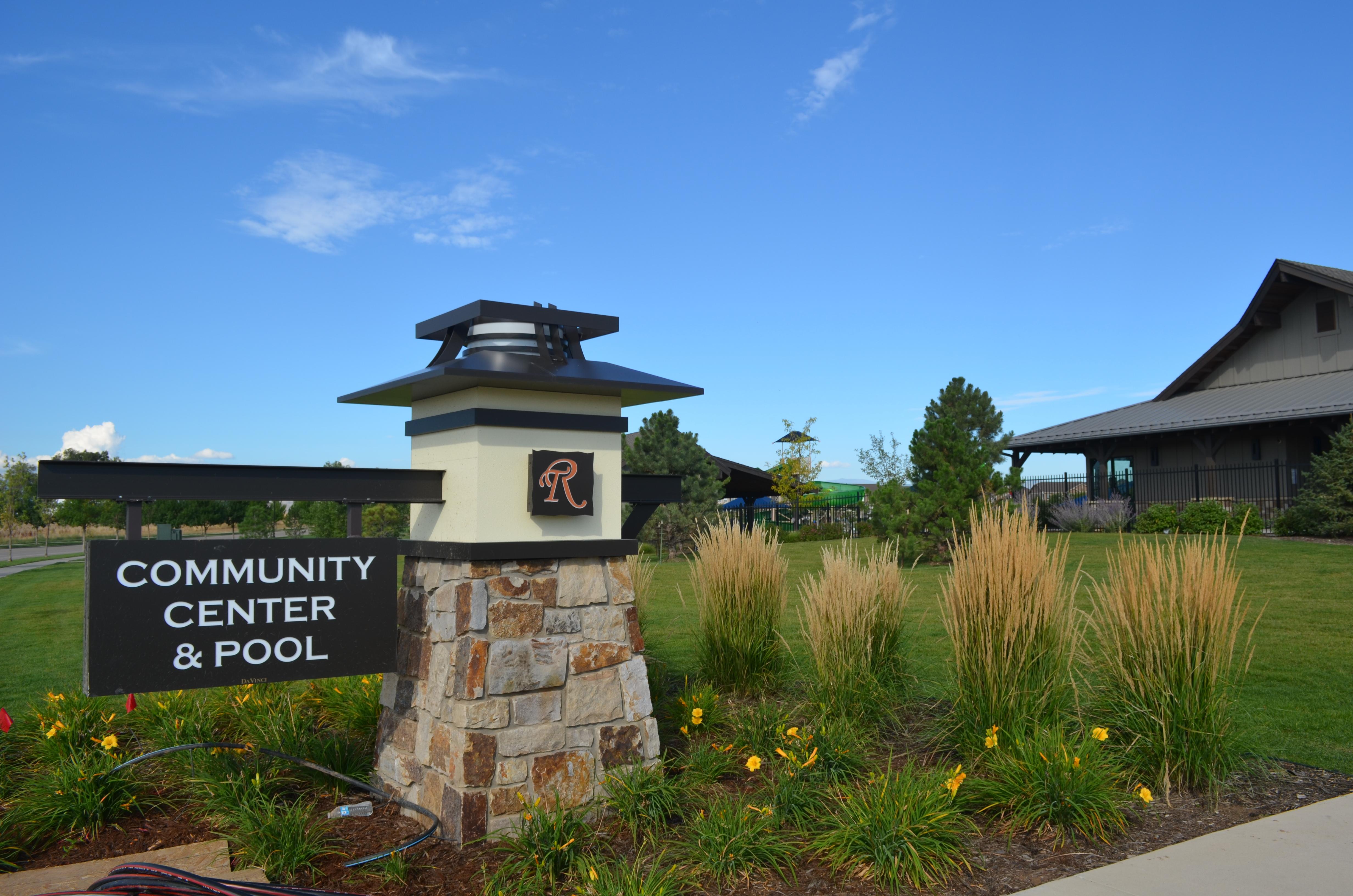 Community Center sign