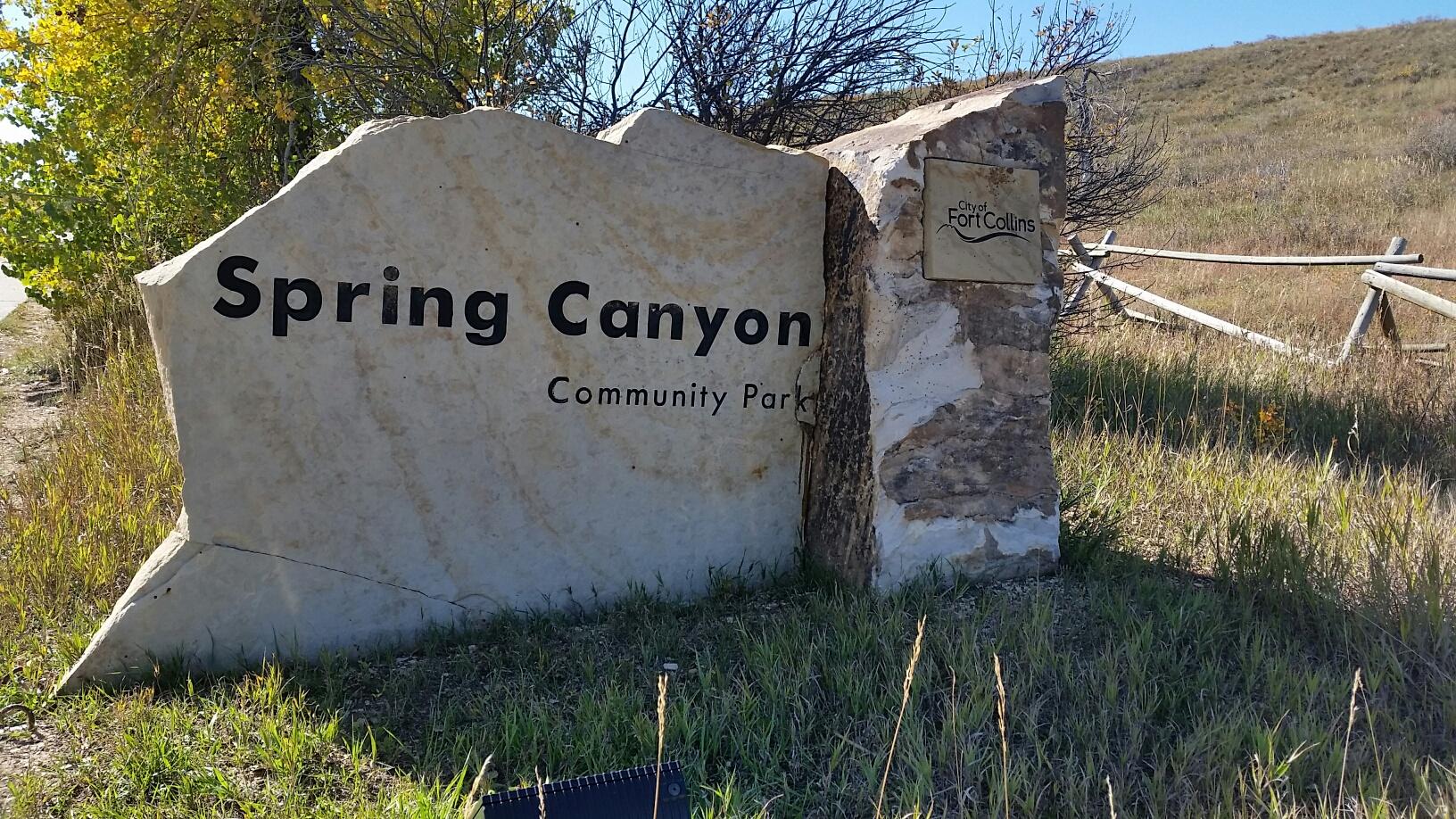 spring canyon sign